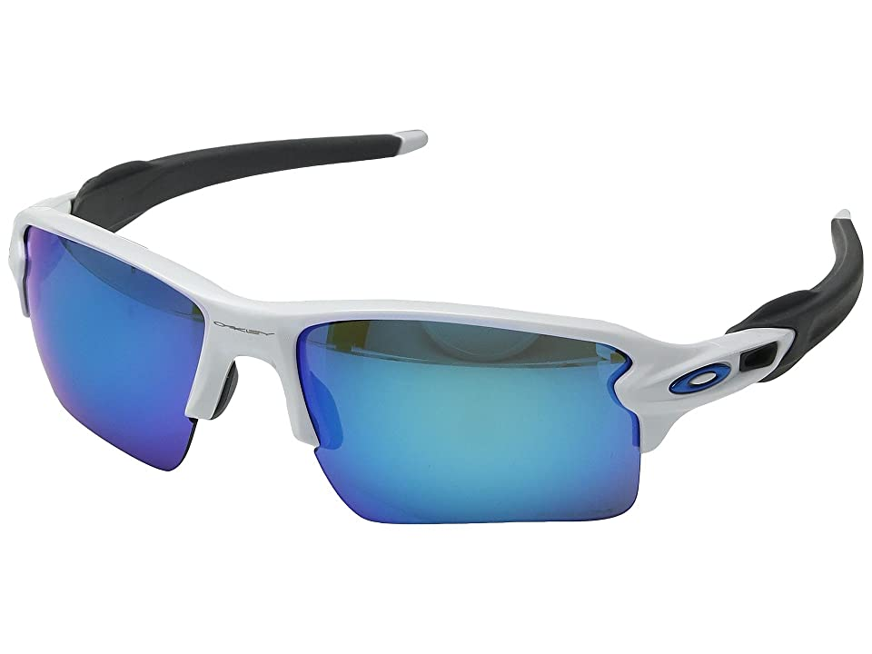 Oakley Flak 2.0 XL (Polished White w/ Prizm Sapphire) Fashion Sunglasses