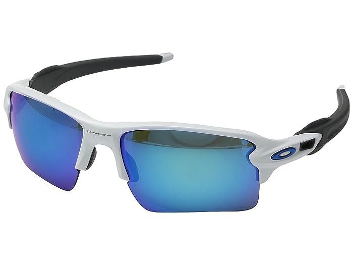 Oakley Flak 2.0 XL (Polished White w/ Prizm Sapphire) Fashion Sunglasses
