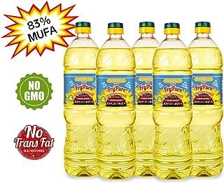 SUNVELLA FryPure Non-GMO High Oleic Sunflower Oil, Pressed-Refined 33.8 FL OZ (1.0 L) (Pack of 5)