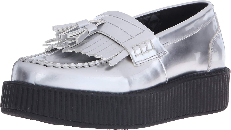 Woherren Silber Patent Tassle Loafer EU37   UKW4