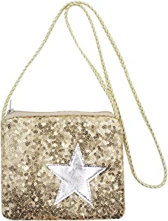 Kids Glitter Sequins Crossbody Purse Small Shoulder Bag Satchel for Boys Girls