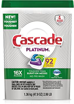 Cascade Platinum ActionPacs Dishwasher Detergent Fresh 92 ct.