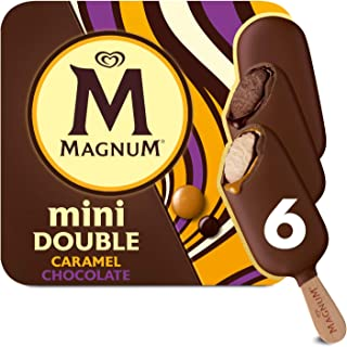 Magnum Mini Double Chocolate/ Double Caramel Multipack Ice Cream Stick, 60ml - Frozen