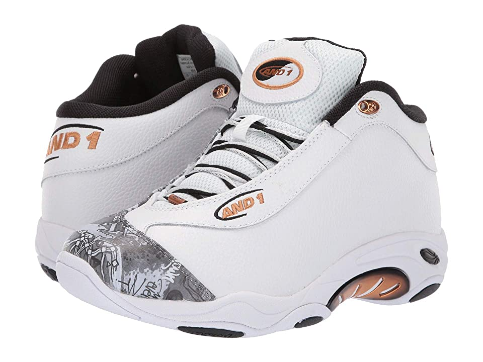 AND1 Tai Chi LX (White/Mixtape Graffiti/Copper) Men