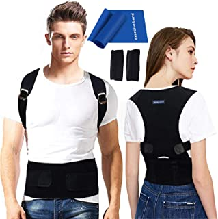 Back Brace Posture Corrector for Men - Medical Posture Brace for Women - Best Adjustable Back Corrector Provides Lumbar Support - Lower & Upper Back Pain Relief - Shoulder Kyphosis Posture Device(L)