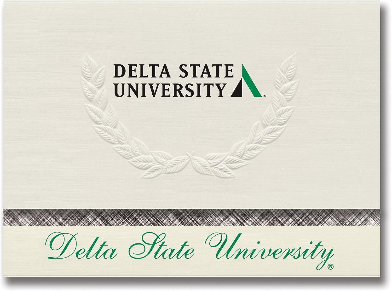Signature Ankündigungen Delta Staatliche Universität Graduation Ankündigungen, platin Stil, Elite Pack 20 mit Delta State u. Universität Mark Farbe B0793JTMXQ    | Online einkaufen