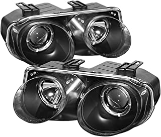 Spyder Auto Acura Integra Black Halogen Projector Headlight