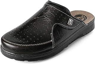 Bravo 106/1 Slip-on Mens Mule Clogs Slippers Shoes, Black