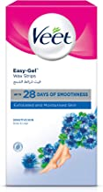 Veet Hair Removal Cold Wax Strips Sensitive Skin - Pack Of 20