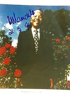 Nelson Rolihlahla Mandela (+) NOBEL PRIZE autograph, In-Person signed photo