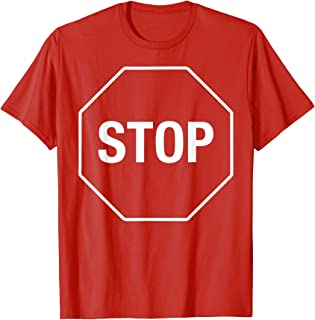 Halloween Costume Stop Sign Funny Simple Lazy T-Shirt