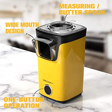 MEOMY Hot Air Popcorn Maker, Electric Popcorn Machine with Measuring Cups, 98% Poping Rate, BPA-Free, 2 Minutes Fast Popcorn
