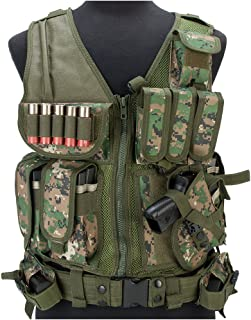 Evike Matrix Special Force Cross Draw Tactical Vest w/Built in Holster & Mag Pouches