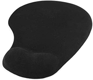 Trands Gel Mousepad With In-build Wrist Rest Pad, Black
