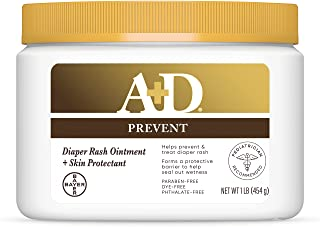 A+D Original Diaper Rash Ointment, Skin Protectant With Lanolin and Petrolatum, (Packaging May Vary) Cream 16 Ounce (Pack ...