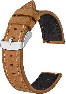 BISONSTRAP Bracelets de Montre en Cuir, Bande de Remplacement à déGagement Rapide pour Hommes et Femmes-18mm 19mm 20mm 21m...
