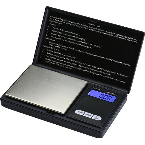 Smart Weigh SWS100 Elite Digital Pocket Gram Scale,Kitchen Nutrition Scale,Jewelry Scale,