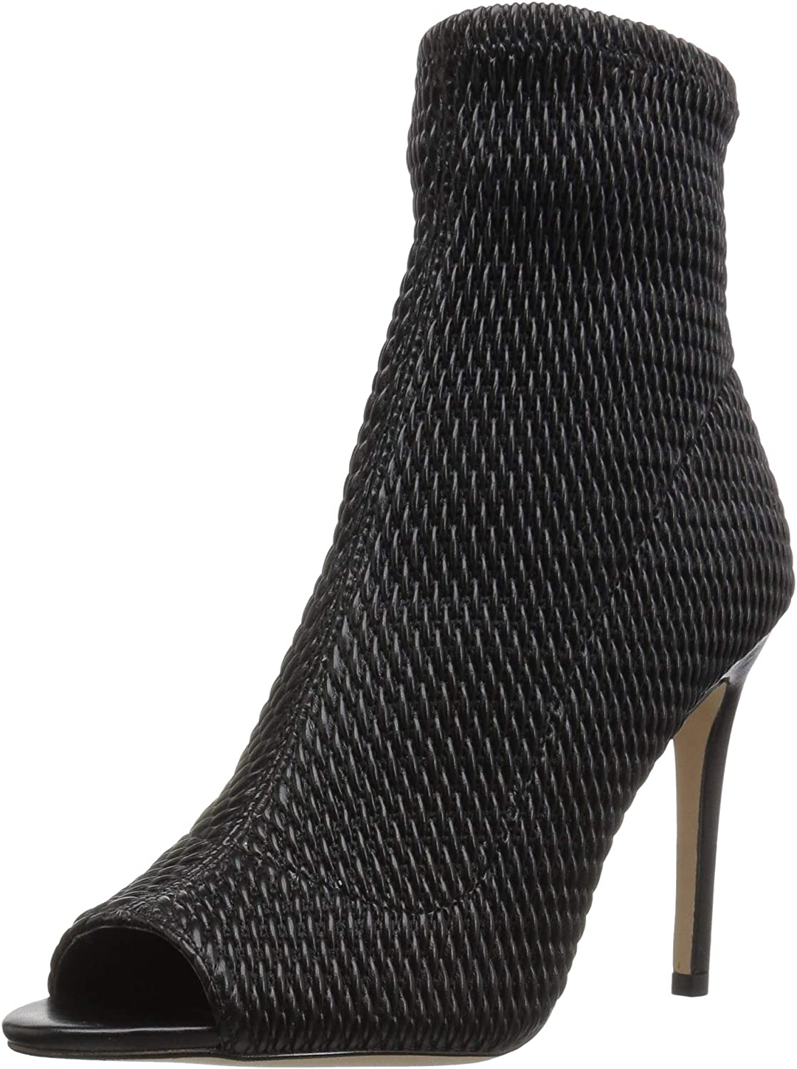BCBGeneration Womens Jane Quilted Peep Toe Ankle Boot