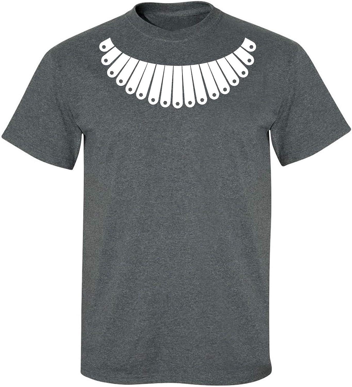 RBG Collar Adult T-Shirt in Dark Heather - XXX-Large
