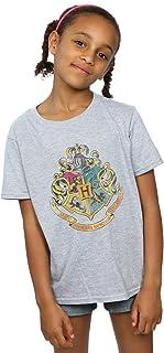 HARRY POTTER niñas Hogwarts Distressed Crest Camiseta 9-11 Years Gris Sport