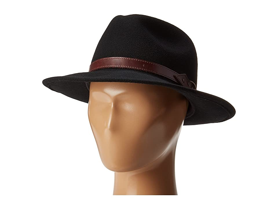 1950s Mens Hats | 50s Vintage Men's Hats Country Gentleman Dunmore Classic Wool Fedora Hat Black Caps $60.00 AT vintagedancer.com