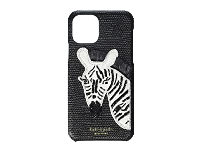 Kate Spade New York Beaded Zebra Phone Case for iPhone 11 Pro (Black) Cell Phone Case
