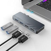 Adaptador Rocketek USB C para MacBook Pro / Air, 4 en 2 USB C Hub Adaptador USB MacBook Pro, Tipo C Dual Hub con 2 USB 3.0...