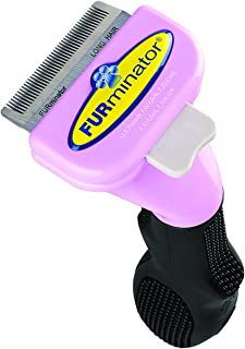 Furminator 10731 Long Hair Deshedding Tool for Cats, Small