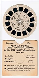 Whirlwind British Aircraft Airplane 1942 World WAR 2 Army AIR Forces Flying Training Command View-Master Viewmaster Reel