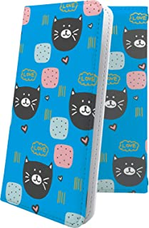 スマートフォンケース・Xperia J1 Compact D5788・互換 ケース 手帳型 黒猫 ぶた 豚 クロネコ 黒猫 ねこ 猫 猫柄 にゃー エクスペリア コンパクト 手帳型スマートフォンケース・女の子 女子 女性 レディース Xperi...