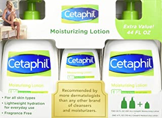 Cetaphil Mositurizing Lotion 2 X 20 Fluid Ounce with 4 Ounce Bonus