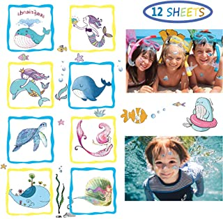 MALLMALL6 238pcs Shark Temporary Tattoos Body Stickers for Kids Sharks Themed Birthday Party Supplies Ocean Sea Theme Goodie Gift Bags Fillers Summer Party Favors Costume Accessory for Boys Girls