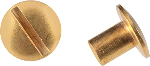 Uncle Mike's Solid Brass Chicago Screws, Pack of 24