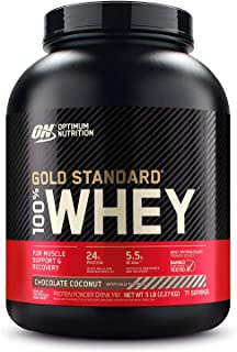 Optimum Nutrition Gold Standard 100% Whey Protein Powder, Chocolate Coconut, 5 Pound (Packaging May Vary)