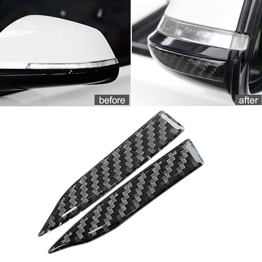 Rear View Mirror Guard - Xotic Tech Carbon Fiber Rearview Mirror Anti Scratch Protector Trim Sticker for Honda Audi Mercedes