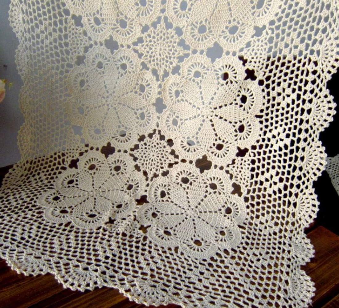 Damanni Rectangular Cotton Handmade Crochet Do Topics on TV depot Runner Table Lace