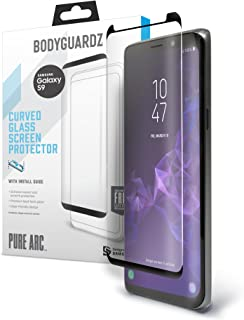 BodyGuardz - Pure Arc Ultra-Thin Tempered Glass Screen Protector for Samsung Galaxy S9