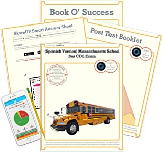 (Spanish Version) Massachusetts School Bus CDL Exam, MA Commercial Driver's License SchoolBus Test Prep, Study Guide