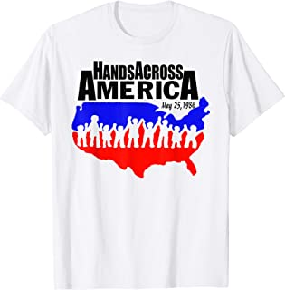 Hand Across American May 25 1986 Tshirt With American Flag