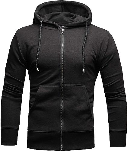 CRONE - Sweat-Shirt à Capuche - Homme - Noir - XL