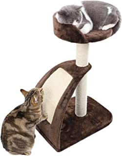 PAWZ Road Cat Tree Kitten Sisal Scratching Post and Pad, Cat Tower Climbing Toys Activity Tree with Perches