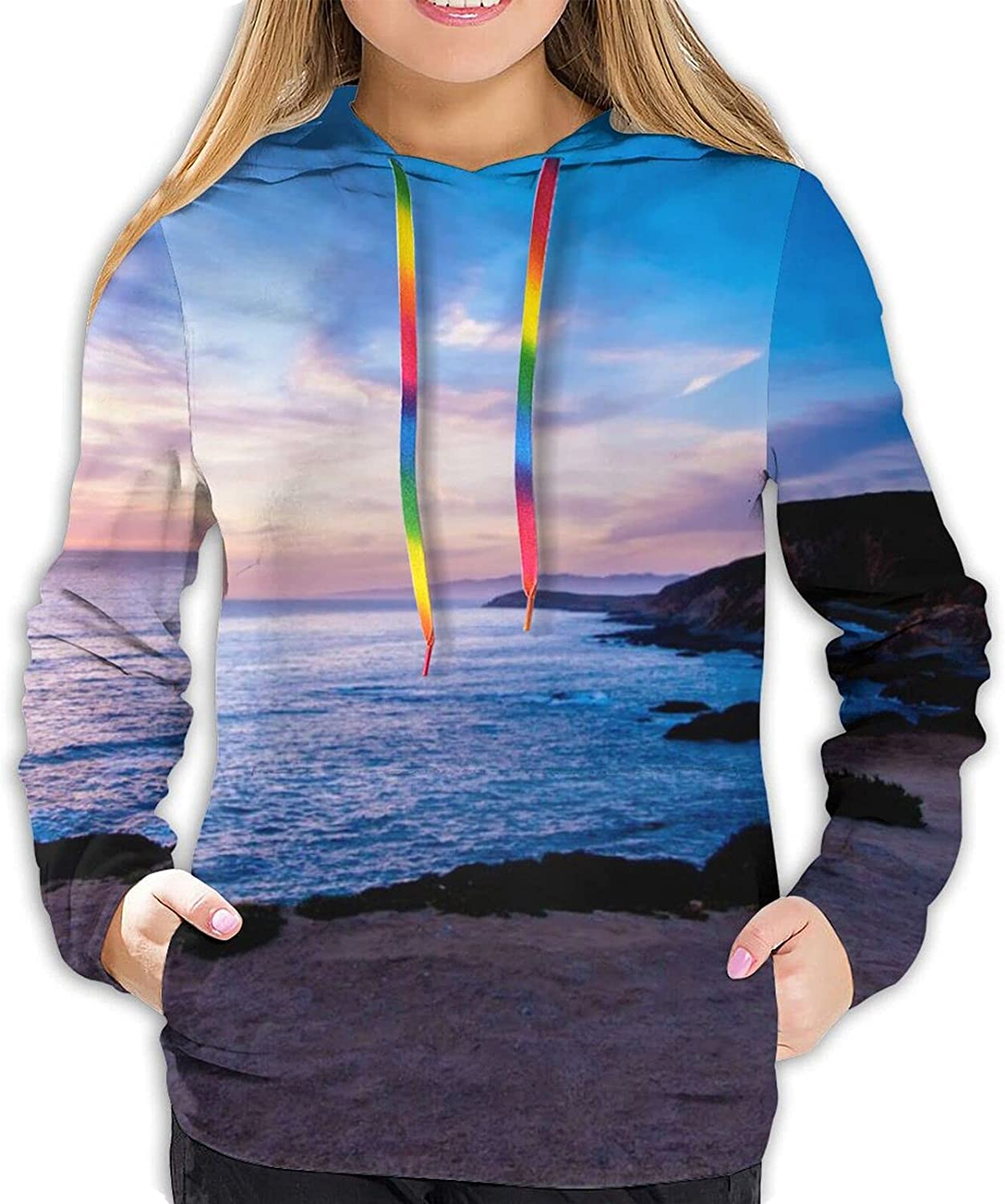 Stylish Genuine A sign Bombing free shipping ahead sunset Women Playin Graphic Hoodie Print 3D