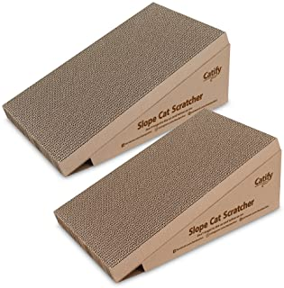 Catify by Best Pet Supplies, Inc., Inc., Inc., - Slope Cat Scratcher with Catnip (2 Pack), One Size (CTM-08-02)