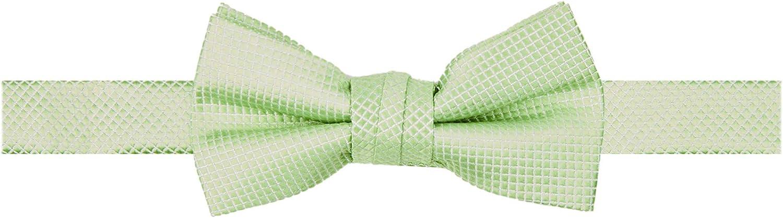 Jacob Alexander Boys' Woven Subtle Mini Squares Adjustable Pre-Tied Banded Bow Tie