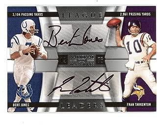 2009 National Treasures Bert Jones/fran Tarkenton Dual Auto 04/15 - NFL Autographed Football Cards