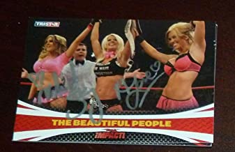 Angelina Love Velvet Sky Signed 2009 Impact TNA Card Knockouts #64 Auto - Tristar Productions Certified
