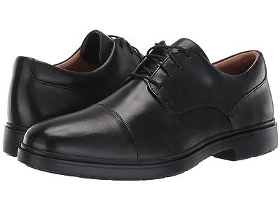 Clarks Un Tailor Cap (Black Leather) Men