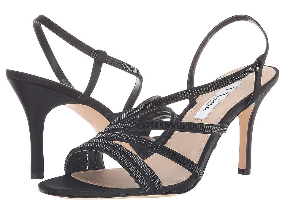 f1cbb179e5f Nina Amani (Black Satin) Women s Shoes