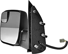 Driver Side Textured Side View Mirror for 2010-2014 Ford Van E-150 E-250 E-350 E-450 Super Duty - Power Operated, Manual Folding - Parts Link #: FO1320396