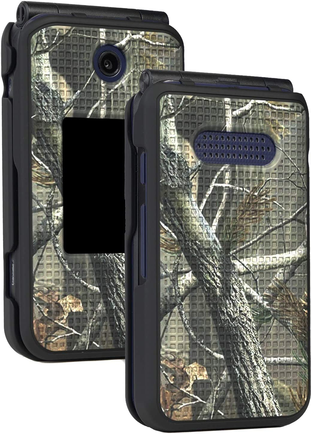 Case for Cingular Flip 4, Cricket Debut Case, Nakedcellphone [Outdoor Camouflage] Tree Leaf Real Woods Camo Protective Cover for Cricket Debut Flip (U102AC), AT&T Cingular Flip IV Phone (U102AA)